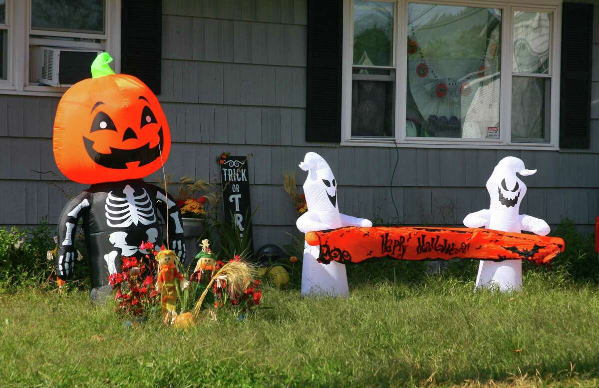 A Halloween decorated home on Prospect Street in Ansonia, Conn., on Tuesday Sept. 22, 2020.