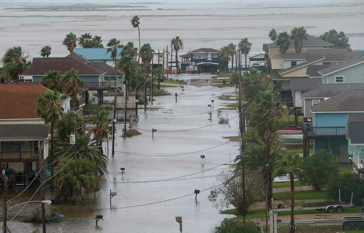 Some roads remain flooded in Surfside Beach after Tropical Storm Beta made landfall overnight, on Tuesday, Sept. 22, 2020. ( Godofredo A. Vasquez / Houston Chronicle )