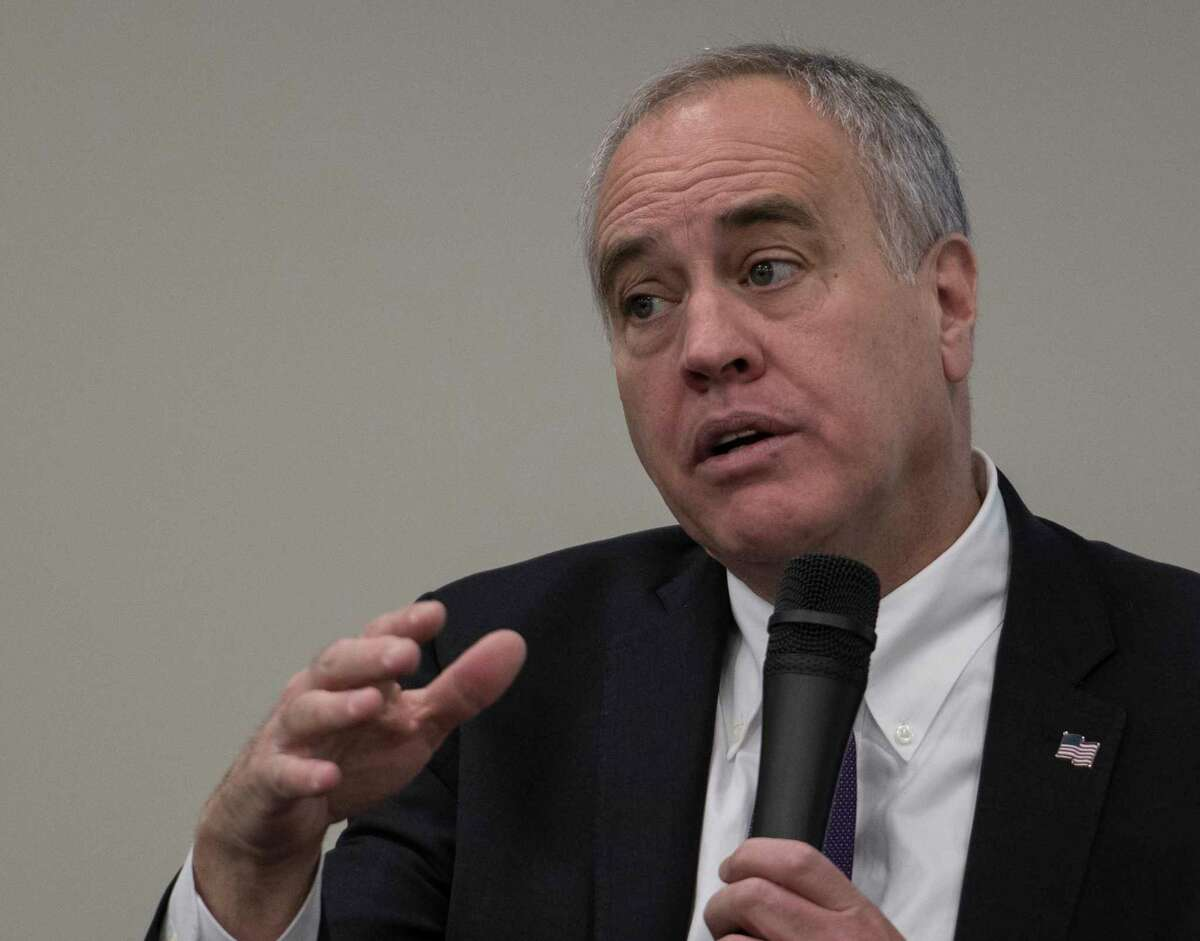 A former employee of the office of Comptroller Tom DiNapoli was charged with conspiracy to commit wire fraud, the U.S. Department of Justice announced Wednesday. Pictured: Here he is interviewed on Tuesday, Jan 9, 2018, at Hearst Media Center in Colonie, N.Y. (Skip Dickstein/ Times Union)
