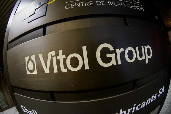 This picture taken on September 26, 2012 in Geneva shows a sign of giant oil traders Vitol Group at its headquarters. Vitol is one of the world's largest oil traders.