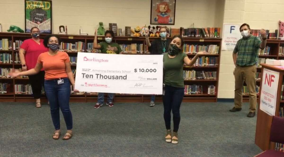 Through AdoptAClassroom.Org, Burlington Stores donated $10,000 to Armstrong Elementary this year to give teachers the opportunity to buy more supplies for their classrooms.