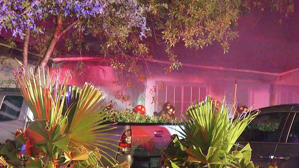 A San Antonio firefighter suffered a medical episode and had to be hospitalized while putting out a blaze at a South Side home Wednesday morning.