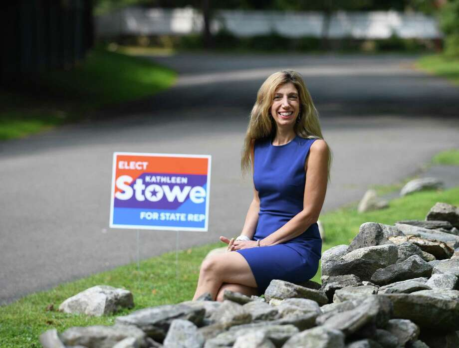 Kathleen Stowe, the Democratic candidate for State Representative for District 149, poses at her home in Greenwich, Conn. Wednesday, Sept. 16, 2020. Photo: Tyler Sizemore / Hearst Connecticut Media / Greenwich Time