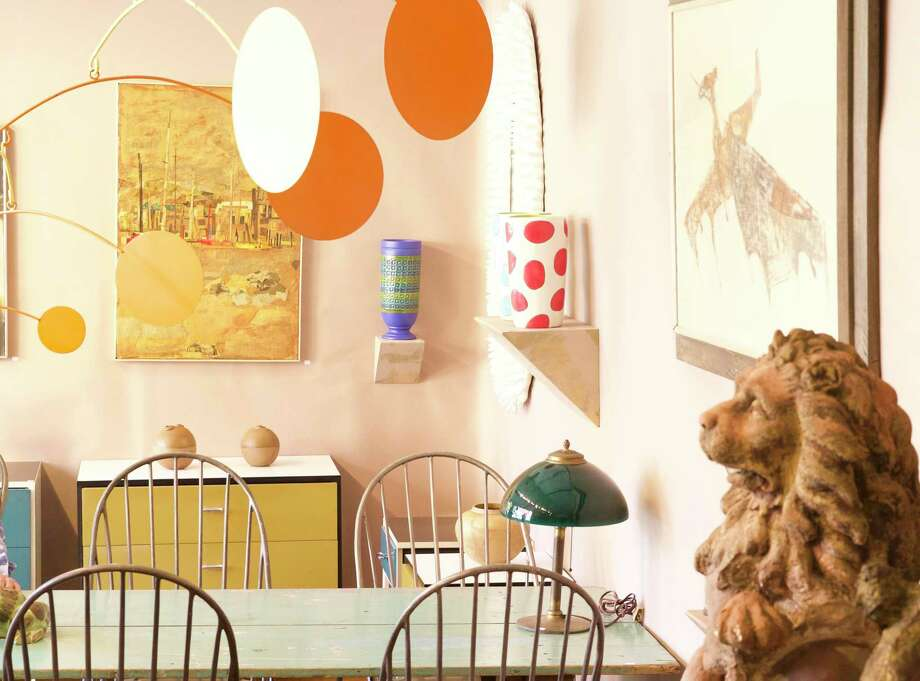 A booth from a previous Objects of Desire show mixes contemporary design with vintage items. Photo: Katie Kinsley / Wilton Historical Society / Wilton Bulletin Contributed