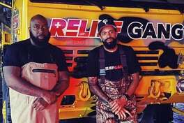 Trae the Truth, DJ Mr. Rogers and Relief Gang are out helping out families in need after flooding caused by Tropical Storm Beta.