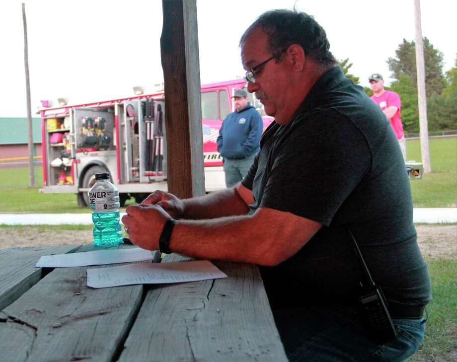 During Fork Township's Monday night meeting,Terry Vogel, Fire and Rescue employee, discussed the upcoming Rescue Millage to be voted on this November. According to Vogel, the request is asking for .5 mil for three years, and will help raise funds for a new rescue truck.(Pioneer photo/Alicia Jaimes)