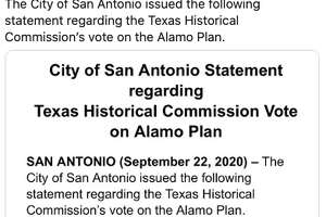 Social media reacted to the news the Alamo Cenotaph will be staying put.