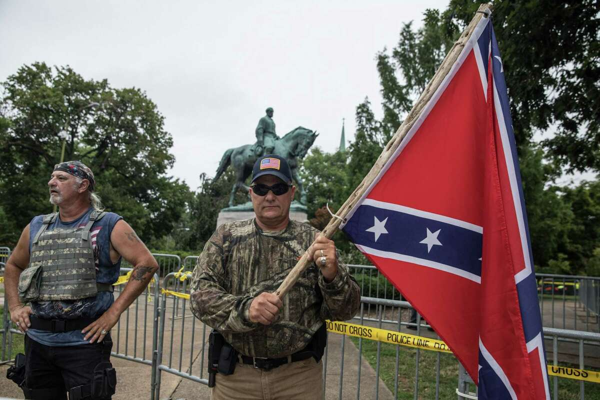 Demonstrators at Emancipation Park before the