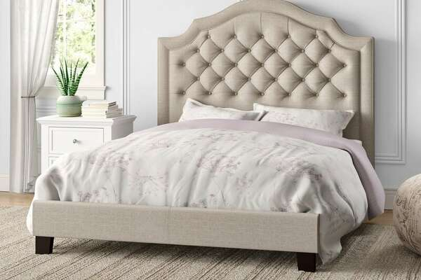 Swanley Tufted Upholstered Low Profile Standard Bed, $209.15 at Wayfair