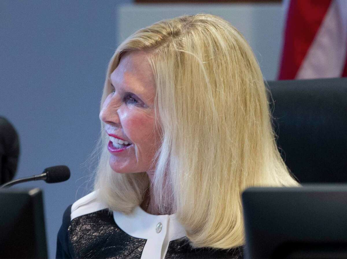Ann Snyder, a director on The Woodlands Township Board of Directors, is seen during a meeting, Thursday, April 26, 2017, in The Woodlands. In honor of the 100th birthday of women being able to vote, The Villager sat down with Snyder for a virtual conversation.