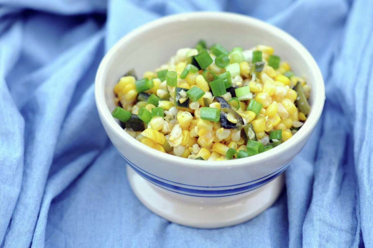 Fire-roasted Corn and Poblano Chile Salad