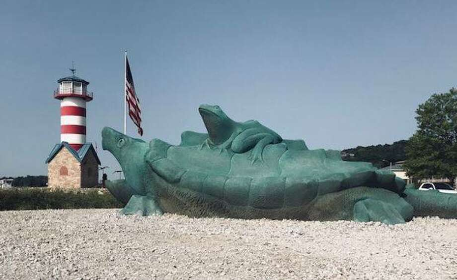 Grafton's Mississippi Riverfront will welcome sculptures of a turtle, a frog and two catfish at a 3 p.m. ceremony Sunday, Sept. 27, near the lighthouse.
