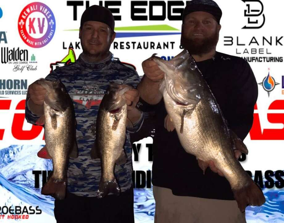 Aaron Self and Brandon Sheridan won the CONROEBASS Tuesday Night tournament with a stringer weight of 16.21 pounds. Photo: Conroe Bass