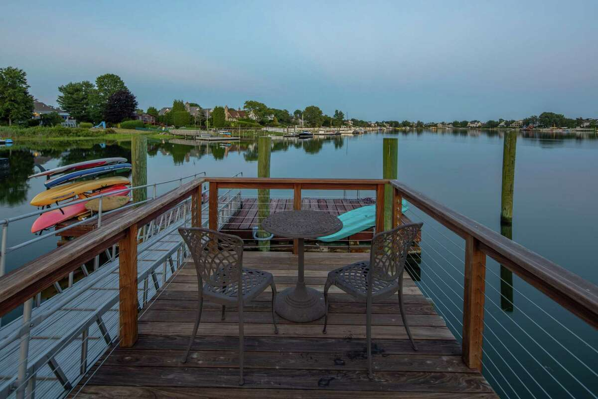 Sit at the end of the dock to take in relaxing water views.