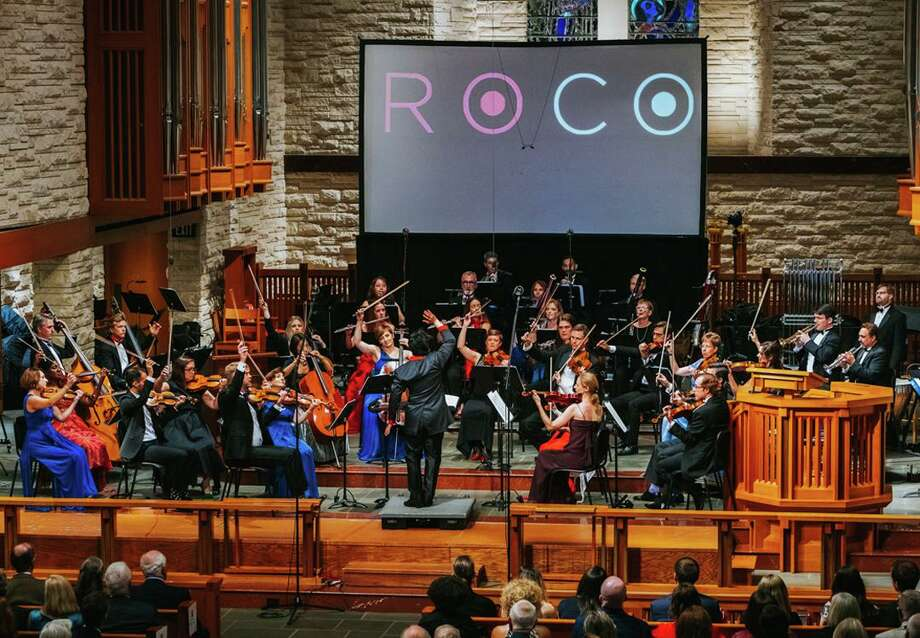 ROCO's (River Oaks Chamber Orchestra) In Concert series, which showcases the full 40-piece orchestra in livestreamed performances, kicks off September 26, 2020, from The Cynthia Woods Mitchell Pavilion's Main Stage with Starburst. Sparkling with musical light and energy, the fully virtual, free live-streamed performance will begin at 5 p.m. and will be conducted by ROCO Artistic Partner Mei-Ann Chen. Photo: Photo Courtesy Blueprint Film Co.