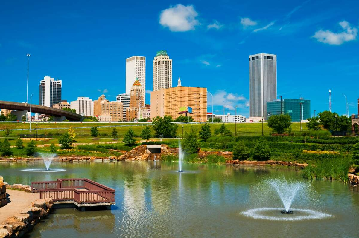 A file photo of the Tulsa skyline. A program is offering people $10,000 to relocate to the city.