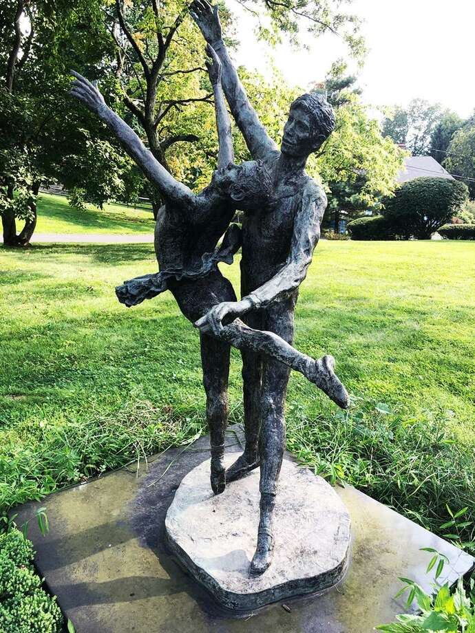 """Pas De Deux"" bronze statue by Steffi Friedman. Photo: Contributed"