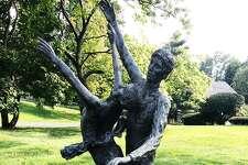 """Pas De Deux"" bronze statue by Steffi Friedman."