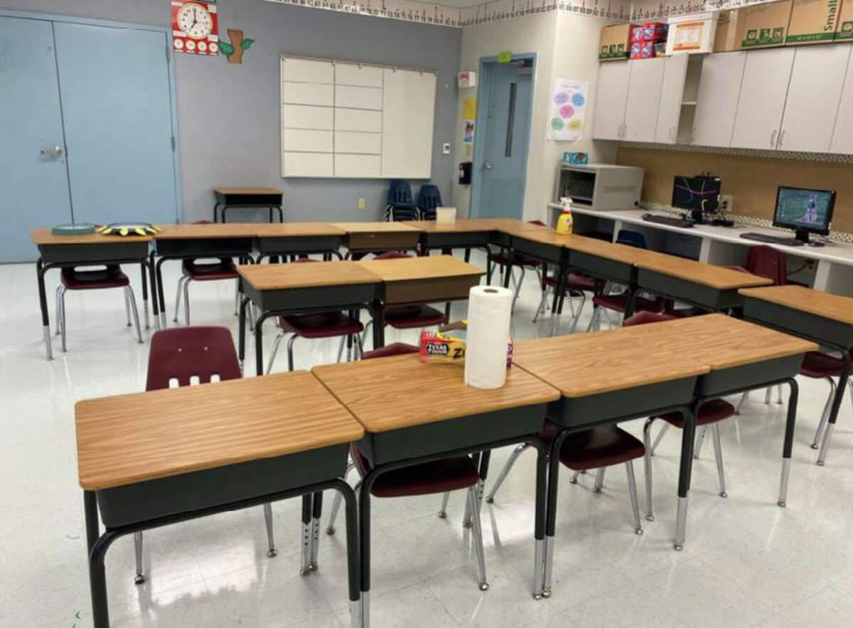 At Anthon Elementary School in Uvalde, social distancing isn't feasible in most classrooms.