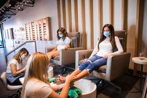 A mother-daughter team is about to open the door to a nail salon experience where the dream of matching manicures and pedicures with outfit changes can be a reality.