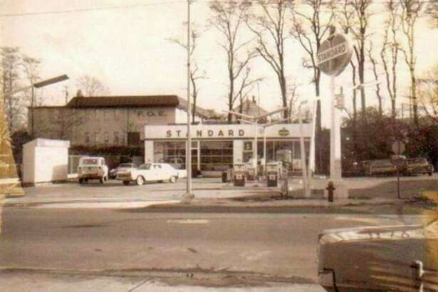 The Standard Gas Station was located on the corner of River and Division Street and was shown in this 1960s photograph. (Manistee County Historical Museum photo)