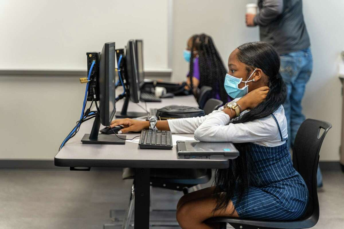 Students return to school Sept. 21 as part of Spring ISD's reopening plan.