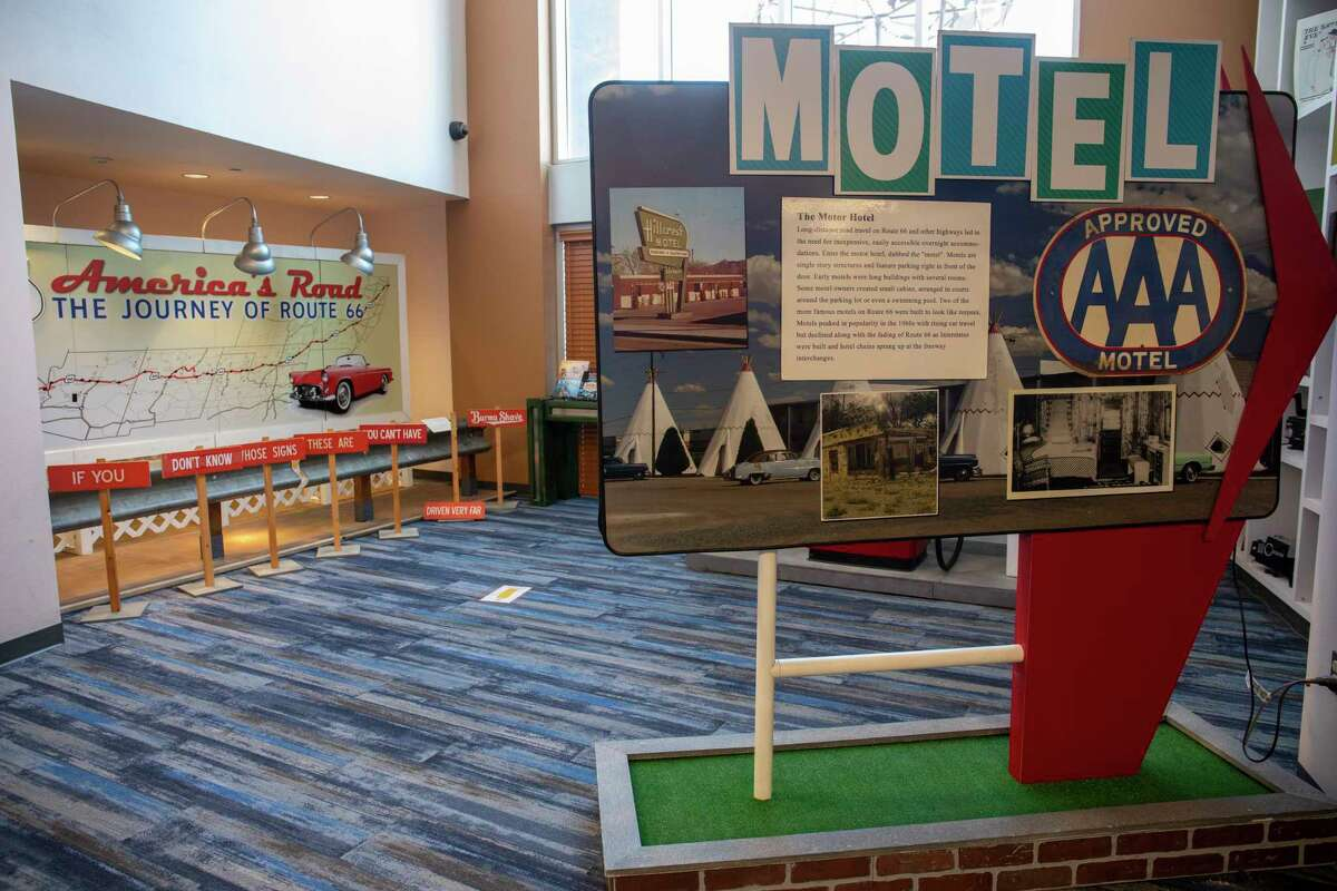 The Route 66 exhibit as seen Wednesday, Sept. 23, 2020 at the Downtown Library. Jacy Lewis/Reporter-Telegram