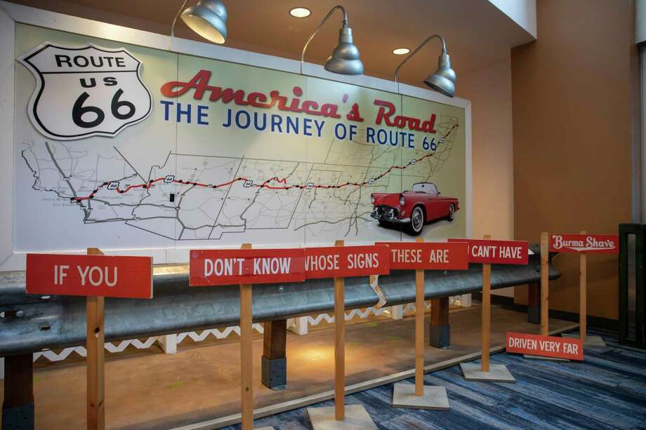 The Route 66 exhibit as seen Wednesday, Sept. 23, 2020 at the Downtown Library.   Jacy Lewis/Reporter-Telegram Photo: Jacy Lewis/Reporter-Telegram / MRT