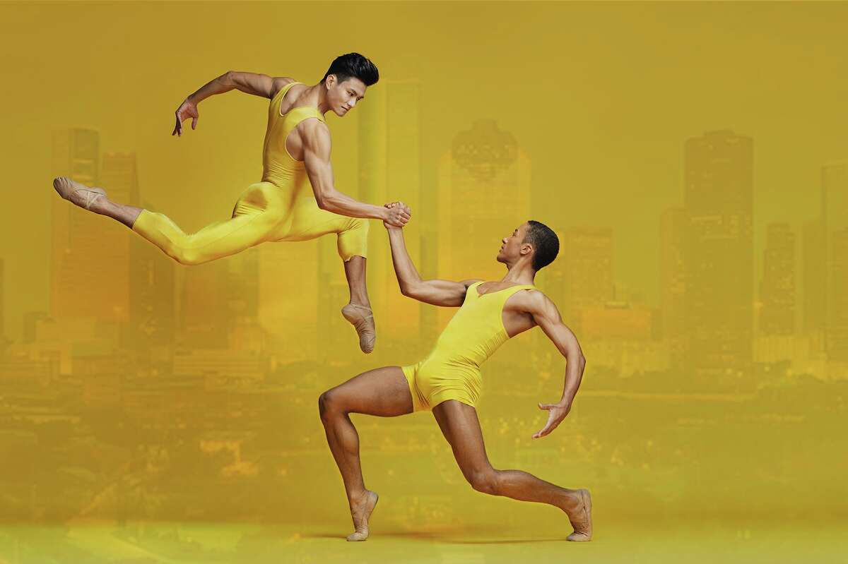 Prinicpal Chun Wai Chan and soloist Harper Watters appear in one of the images Houston Ballet is using for its $5 million COVID relief campaign.