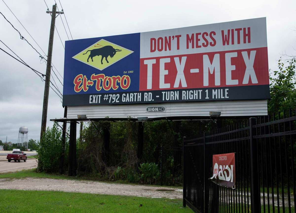 """An El Toro Mexican restaurant billboard in the 16200 block of Interstate 10 along the eastbound frontage road is shown Sept. 23, 2020, in Channelview. The Texas Department of Transportation, which holds the rights to the anti-litter slogan """"Don't Mess With Texas"""" is challenging the Baytown restaurant group's attempt to trademark """"Don't Mess With Tex-Mex"""" claiming it is too similar and trashes their brand."""
