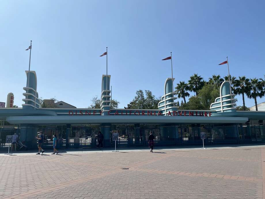Disneyland is the only one of Disney's theme parks in the world that is closed indefinitely. The empty entrance to the park, as seen on September 21, 2020. Photo: Julie Tremaine