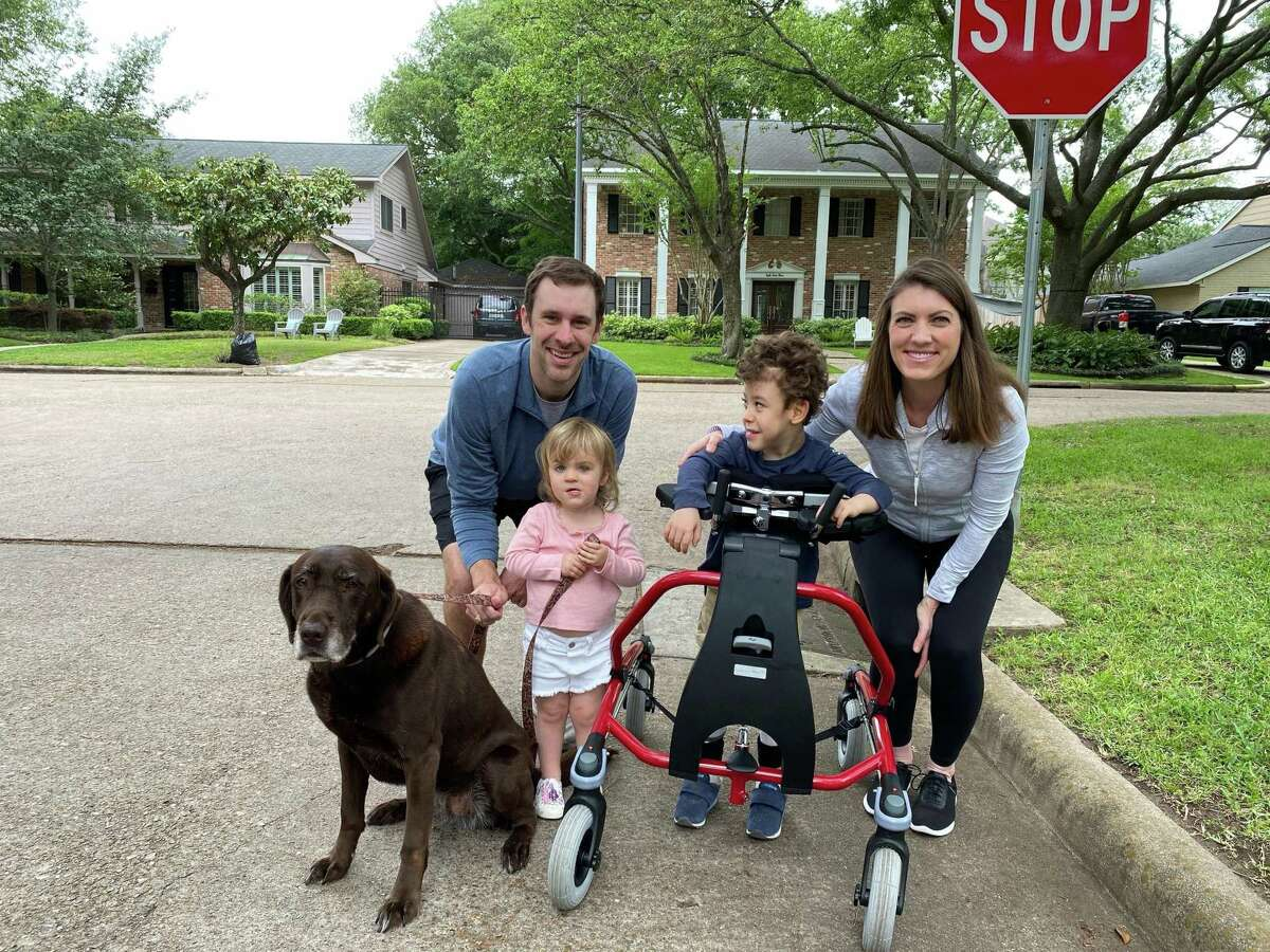 The Ryan family participates in Easter Seals of Greater Houston's virtual Walk With Me fundraiser. Robert Ryan is one this year's child ambassadors.