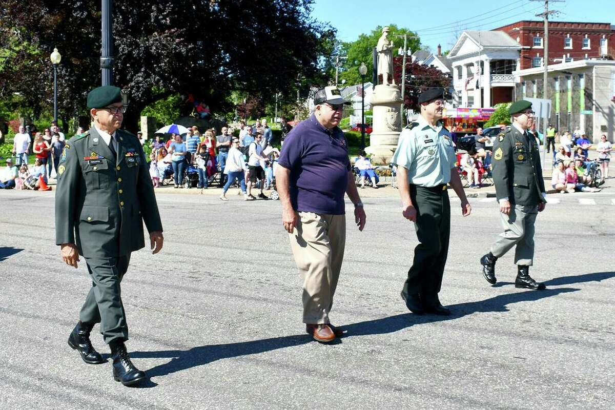 Torrington held its annual Memorial Day parade on Monday, May 27, 2019. Marching bands, fire departments and companies, drum corps, dignitaries and school and civic groups participate in the city's parade, which also includes ceremonies honoring veterans at Coe Memorial Park.