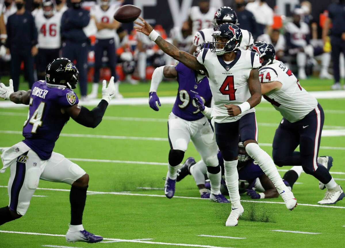 Deshaun Watson faced constant pressure from the Ravens defense and can expect more of the same from the Steelers.