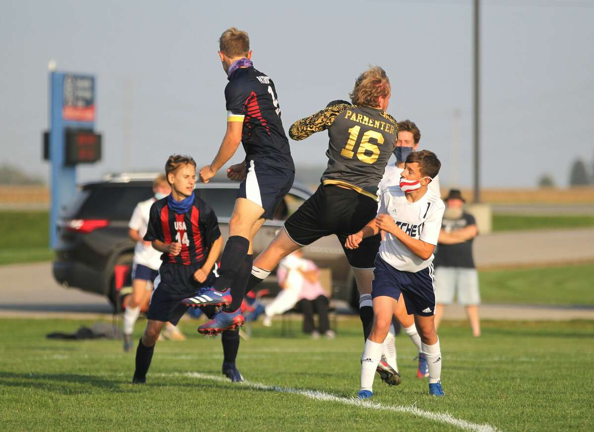 The Bad Axe boys soccer team traveled to USA on Wednesday, where they beat the Patriots, 7-2.