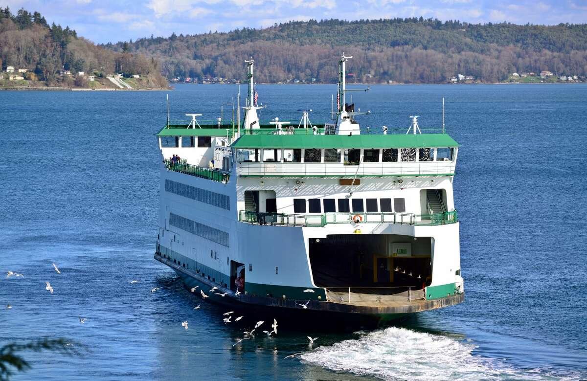 Ferry in Puget Sound near Tacoma, WA.