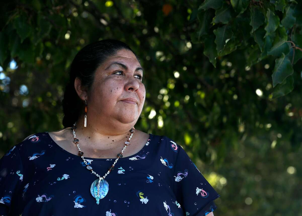 Corrina Gould, with the Confederated Villages of Lisjan/Ohlone, visits a parking lot at 4th Street and Hearst Avenue in Berkeley, Calif. on Wednesday, Sept. 23, 2020 where a sacred Ohlone shellmound was historically located. The location has been designated as one of the 11 most endangered places by the National Trust for Historic Preservation jeopardizing a development project on the site.