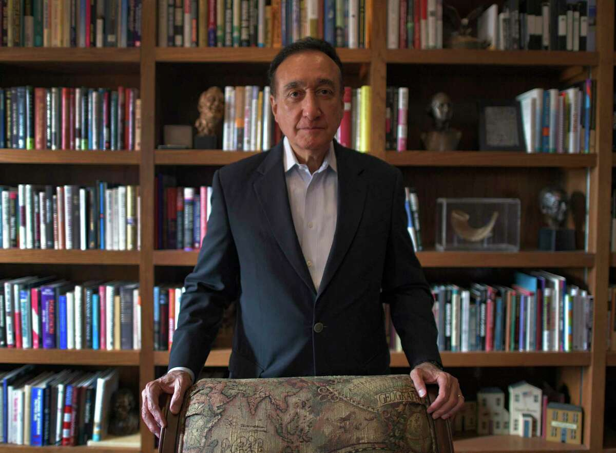 Henry Cisneros, former mayor of San Antonio and Secretary of Housing and Urban Development under President Bill Clinton, in his book-lined office.