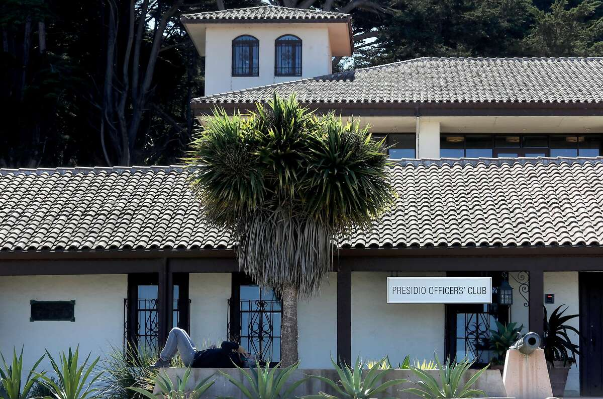 The Presidio Officers' Club has a Spanish Revival look.