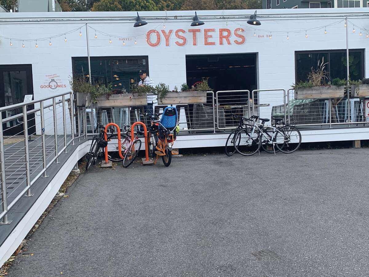 You can ride up to the Portland Oyster House in Maine.