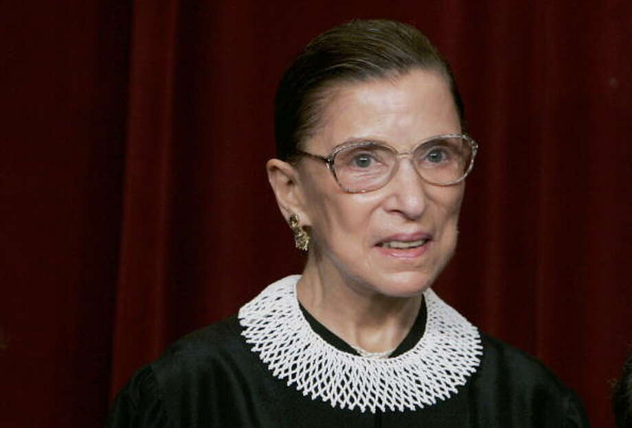 U.S. Supreme Court Justice Ruth Bader Ginsburg Photo: Mark Wilson/Getty Images / 2006 Getty Images