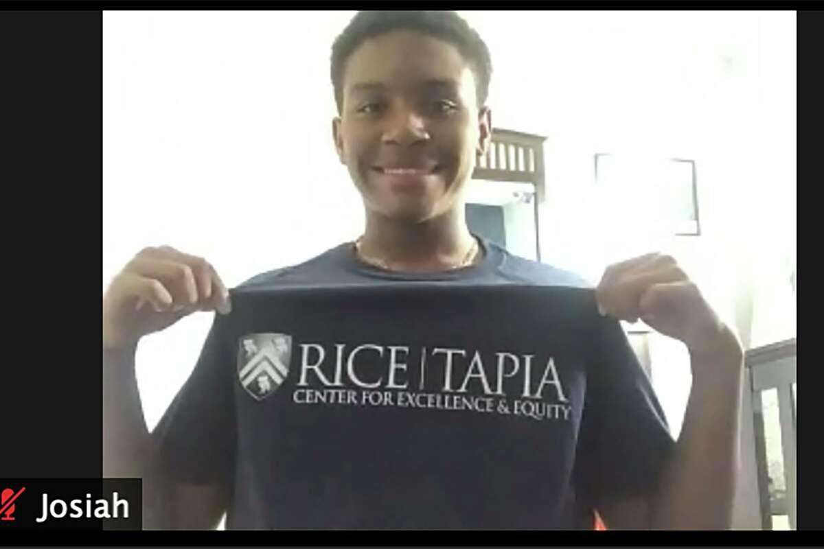Josiah Smaw, a junior at Bridgeland High School, attended a Rice University STEM camp this summer.