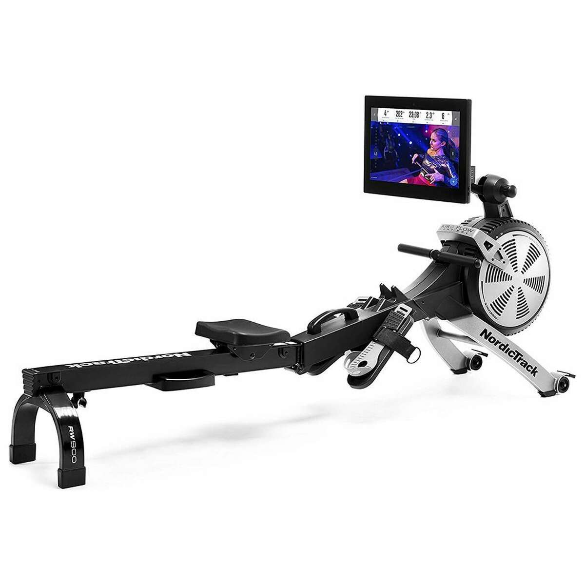 1) RW900 Rower: $1599.00 Shop Now 4.1 out of 5 stars300+ customer reviews NordicTrack has been making exercise equipment since 1975, and when it comes to at-home rowing machines, the RW900 is the one to beat. The ergonomic, molded seat is made for comfort, and the 22-inch touchscreen display is easy to read. A 1-year iFit membership is included with your rower for personalized training that aligns with 26 coach-controlled resistance levels built into your machine. Even as you're sweating like crazy, the RW900 works quietly. When you're done, its