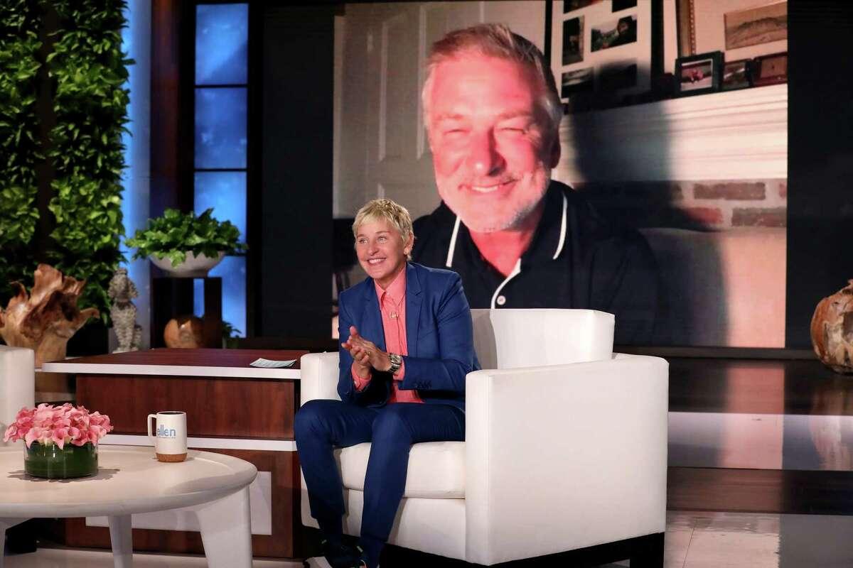 Alec Baldwin, one of Ellen DeGeneres's celebrity guests this week, implored her to