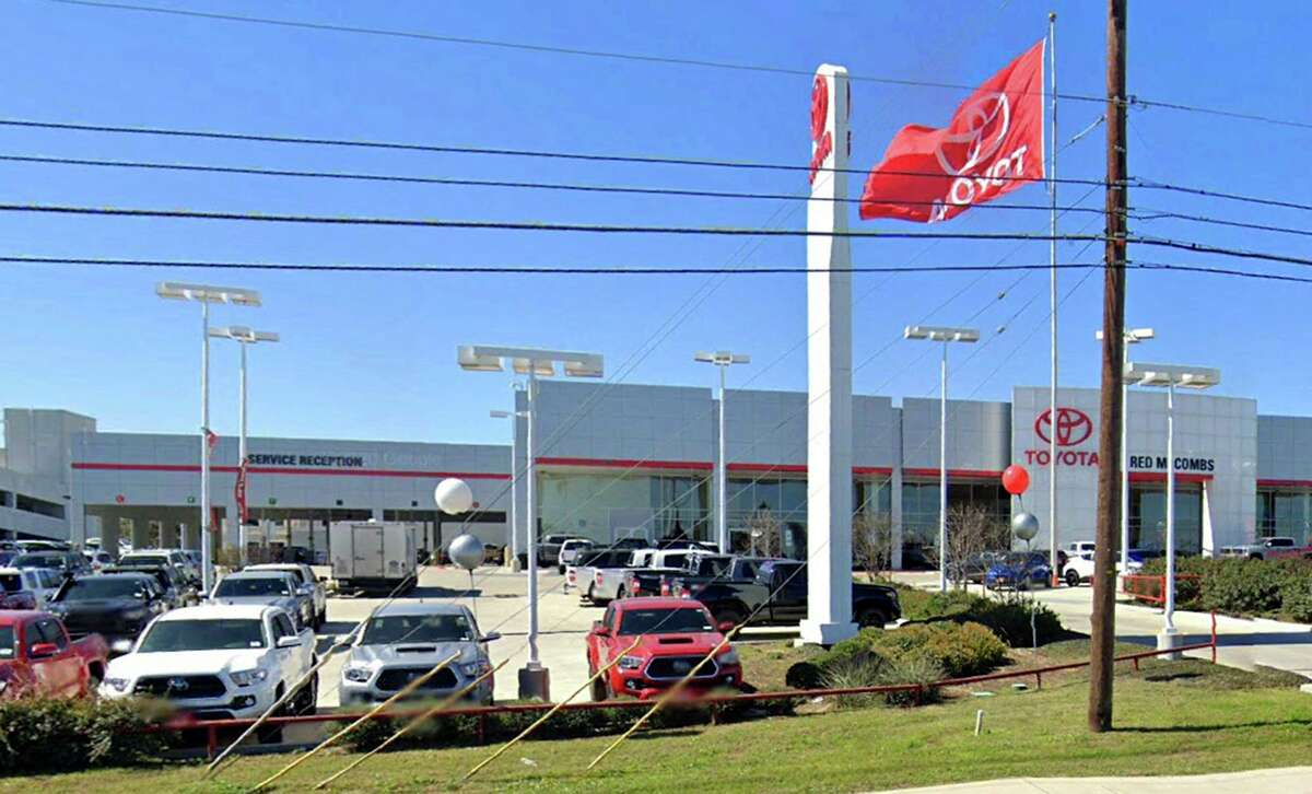 Red McCombs Toyota sued Brandon Hjella for defamation in 2018 over the website he created called redmccombs-toyota.com, where he alleged a dealership mechanic stole a gun from his Tundra pickup truck when he brought it in for maintenance. The dealership is at 13526 W. Interstate 10 in San Antonio.