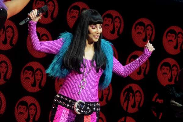 Cher in concert with her Here We Go Again Tour in 2019 Glasgow.