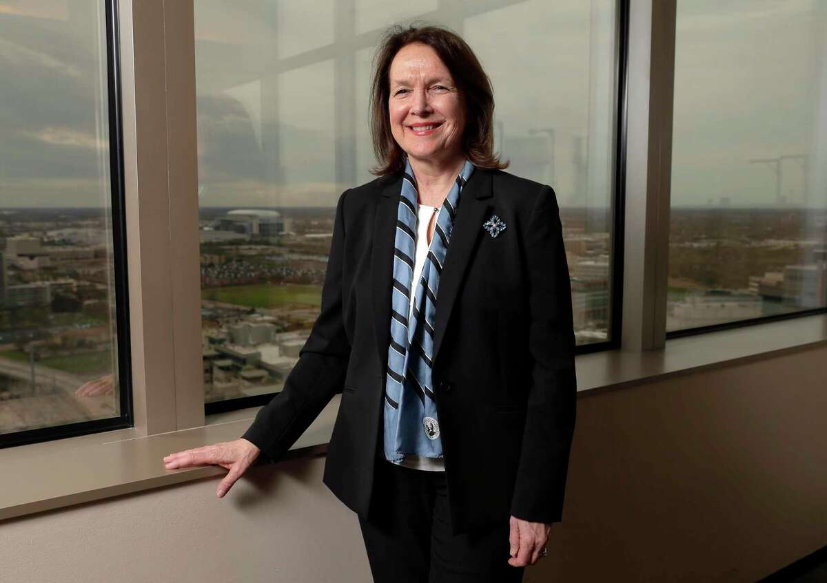 Dr. Patricia Brock Howard, a surgeon and professor who started two medical nonprofits, on the observation floor of M.D. Anderson hospital.