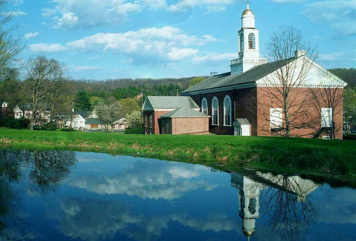 Bryan Memorial Town Hall in Washington Depot. Foliage season daytrips are abundant in Connecticut, and the west-central stretch of country road Route 47 from Washington to Woodbury is tailor-made for a weekend outing.