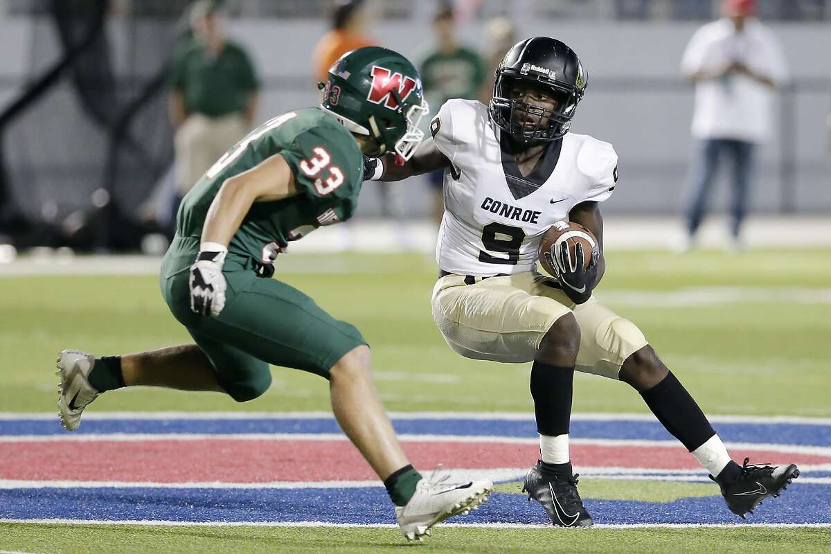 The Woodlands linebacker Noah Polotko (33) and Conroe quarterback Jalen Williams (9) will lead their teams against Pearland and Mayde Creek, respectively, to begin the season.