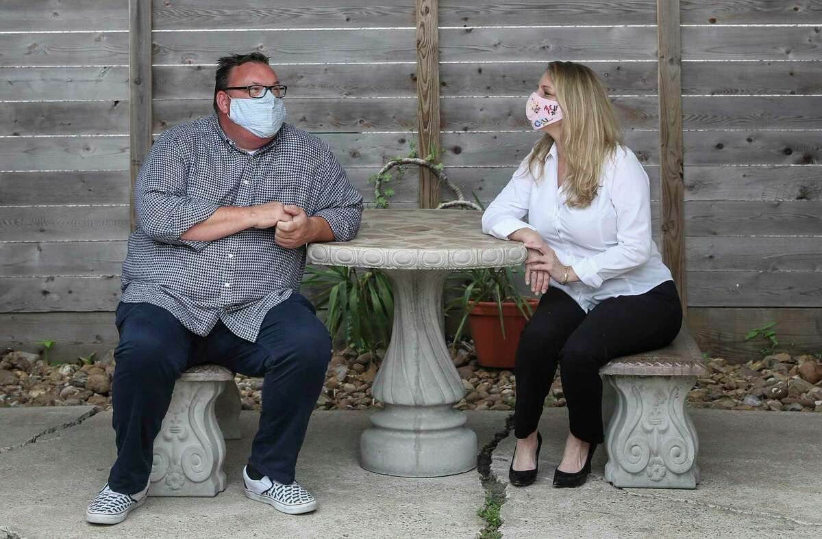 Chris Shepherd, left, founder of Southern Smoke, and executive director Kathryn Lott sprang into action to help restaurant workers.